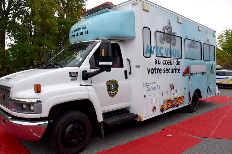 Nouvelle unite mobille SAAQ controle routier et sensibilisation sept2018 photo MRC BHS