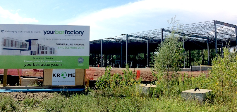 YourBarFactory usine en construction a Chateauguay 27aout2018 photo VC