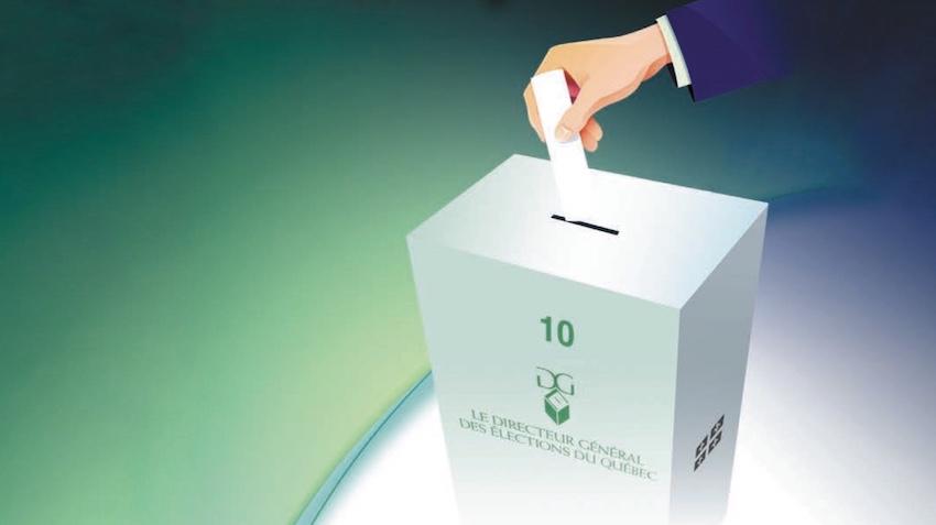 boite de scrutin de vote elections visuel via DGEQ