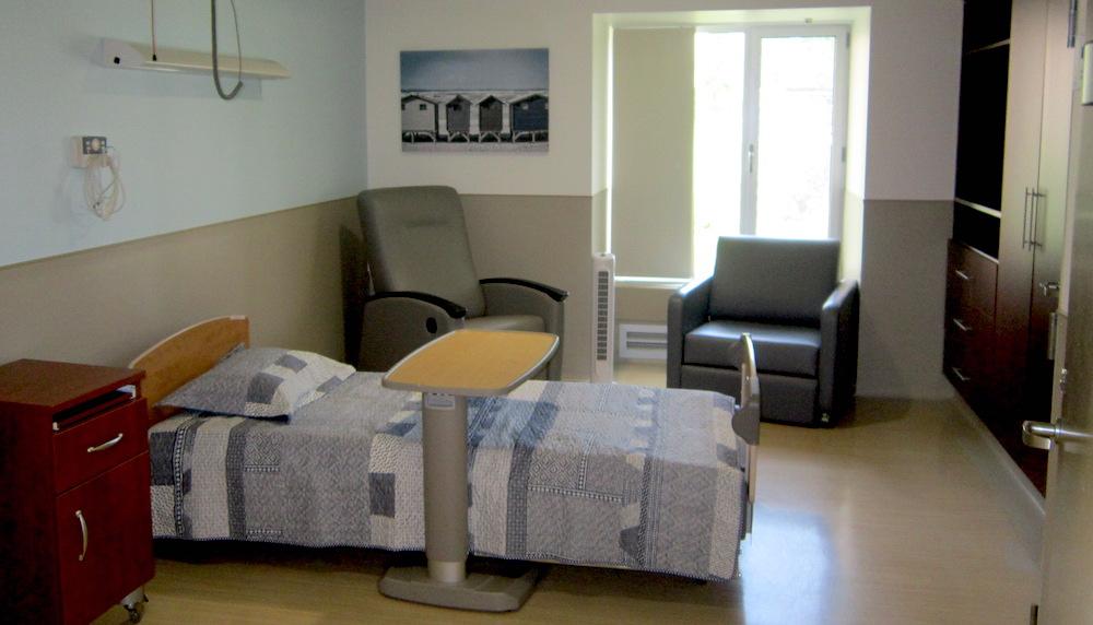 chambre soins palliatifs centre hebergement LaPrairie photo via Fondation Anna-Laberge
