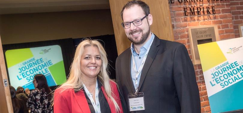 economie sociale Suzanne Roux et Olivier Doyle photo courtoisie via Pole economie sociale VHSL