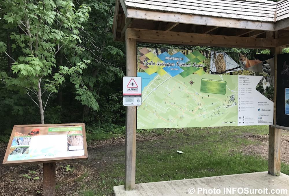 panneau plan Centre ecologique Fernand-Seguin a Chateauguay juin 2018 photo INFOSuroit