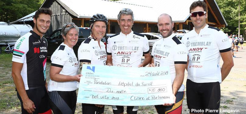 Defi Velo 2018 equipe CEZinc et partenaires pour Fondation Hopital du Suroit Copyright photo Pierre_Langevin via FHS