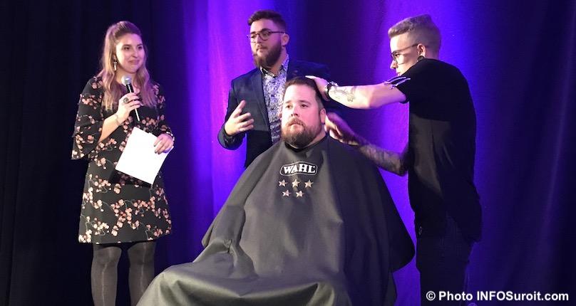 GChenail avec JParent salon LesBarbares GMassicotte et coiffeur Bud Photo INFOSuroit