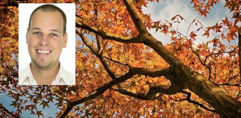Ingenieur forestier Mathieu_Audy Coop_Unifrontieres et arbre automne photo MichaelGaida via Pixabay CC0 et INFOSuroit
