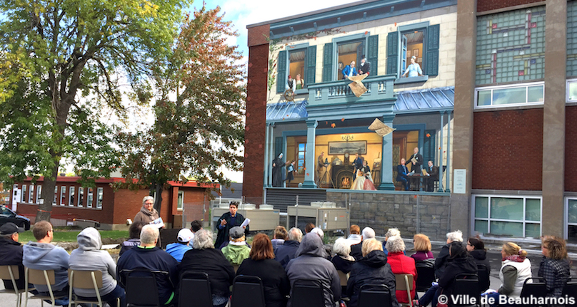 Journee Culture 2018 a Beauharnois fresque 150 ans photo Ville Beauharnois