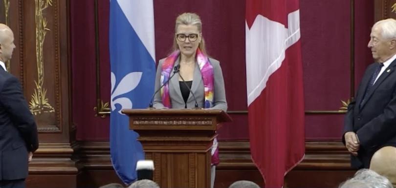 MarieChantal_Chasse nommee Ministre de l_Environnement 18oct2018 extrait video Assnat