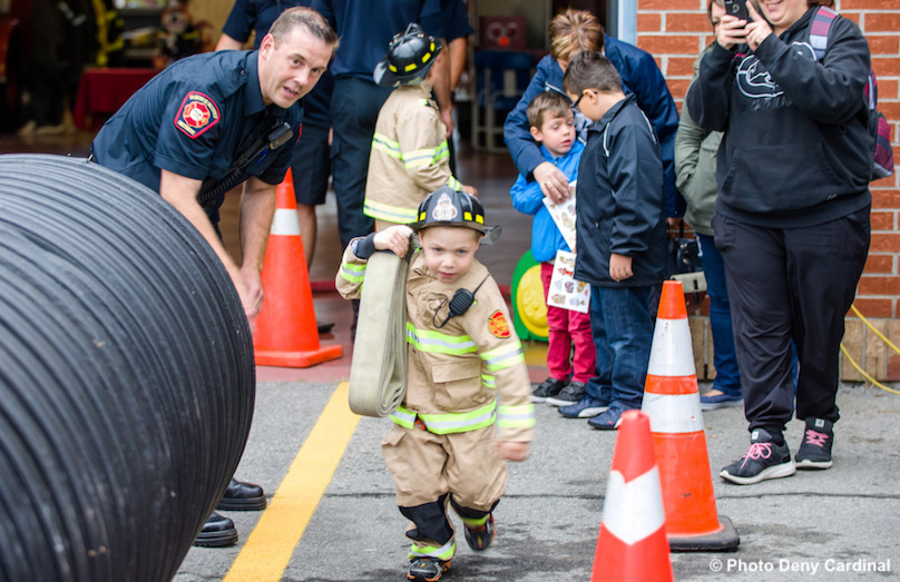 Portes ouvertes caserne pompiers Valleyfield enfants famille photo Deny_Cardinal via SdV