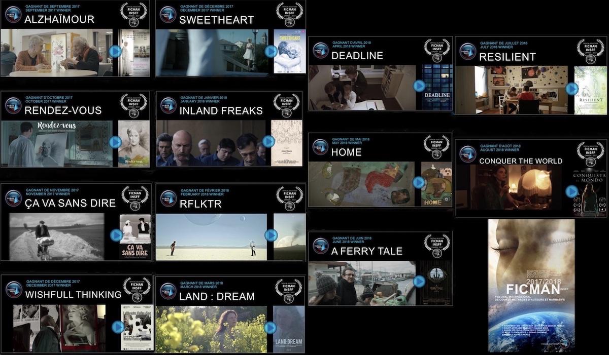 extraits visuels 13 finalistes Festival FICMAN 2018