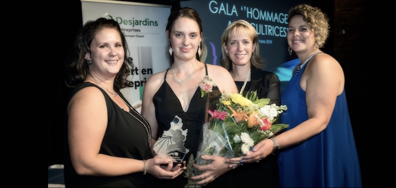 gala agricultrices 2018 ALeblanc JCarriere NBernard et CLefebvre photo courtoisie AMO
