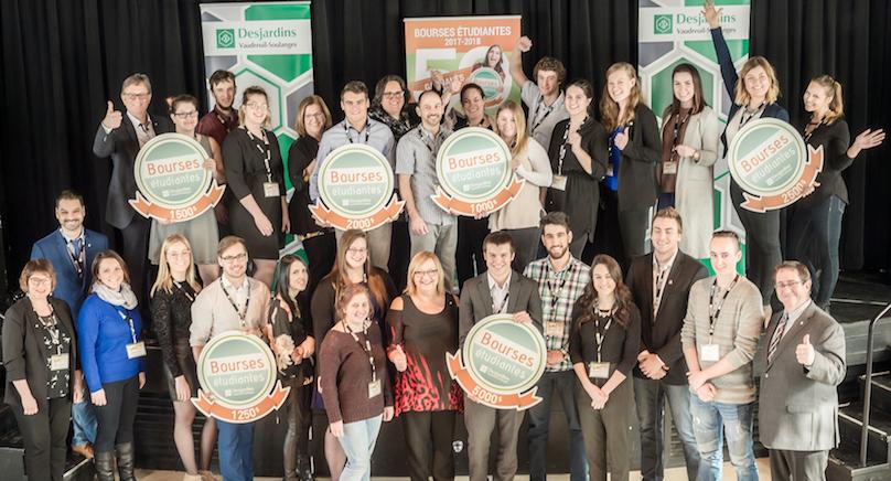laureats bourses etudiantes 2017-18 Desjardins Vaudreuil-Soulanges fev2018 photo courtoisie
