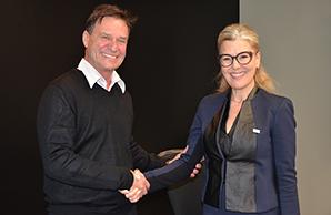 maire Chateauguay PPRouthier rencontre MarieChantalChasse de la CAQ photo courtoisie VC