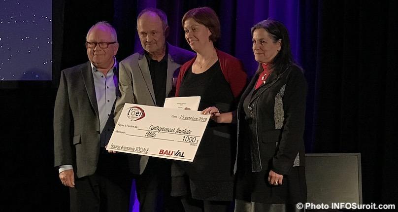 sadc mentors remise bourse Bauval a EFortier de LaFactrie photo INFOSuroit