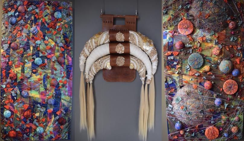 trois oeuvres artiste Tina_Struthers expo galerie MRC a Beauharnois photos MRC