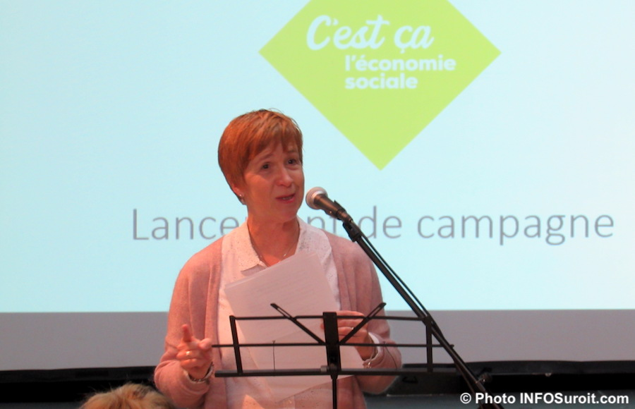 Linda_Phaneuf MRC et CLD lancement pole economie sociale nov2018 photo INFOSuroit