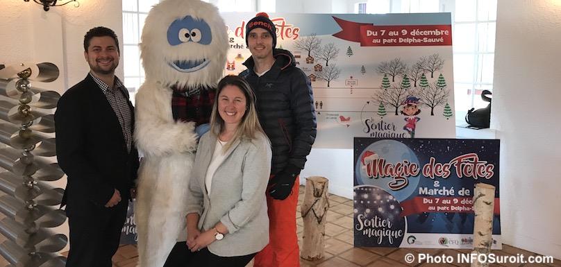 MLemieux Yeti PLoiselle et JStafford pour Magie des fetes 2018 Valleyfield photo INFOSuroit