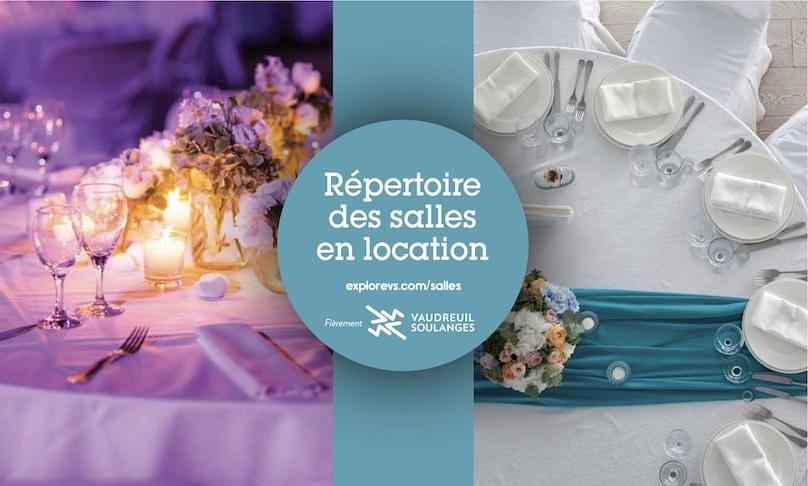Visuel repertoire salles en location Vaudreuil-Soulanges nov2018 via DEV VS