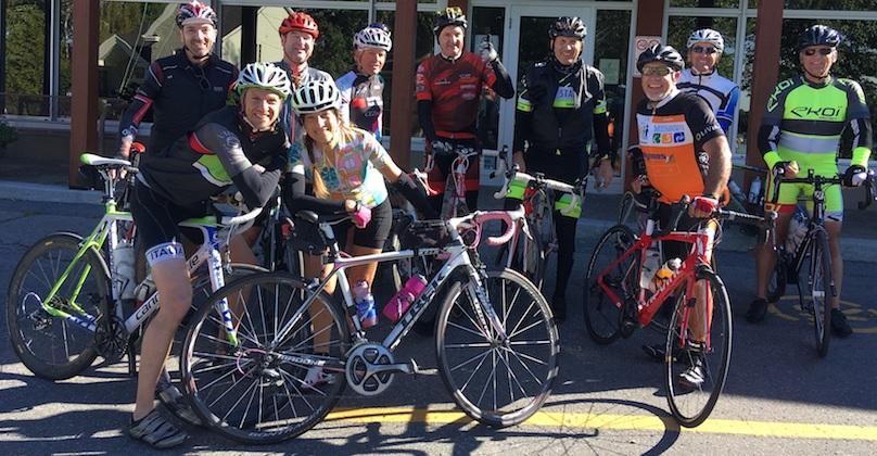 cyclistes participants campagne 2018 pour Le_Tournant photo courtoisie LT