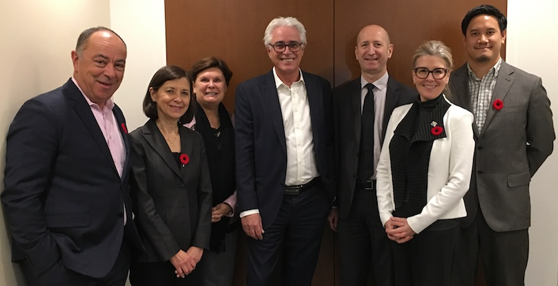ministres de la CAQ a Chateauguay avec Fondation Anna-Laberge 5nov2018 photo courtoisie