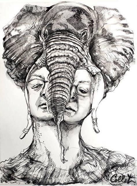 oeuvre Diane_Collet elephant photo courtoisie Musee regional VS