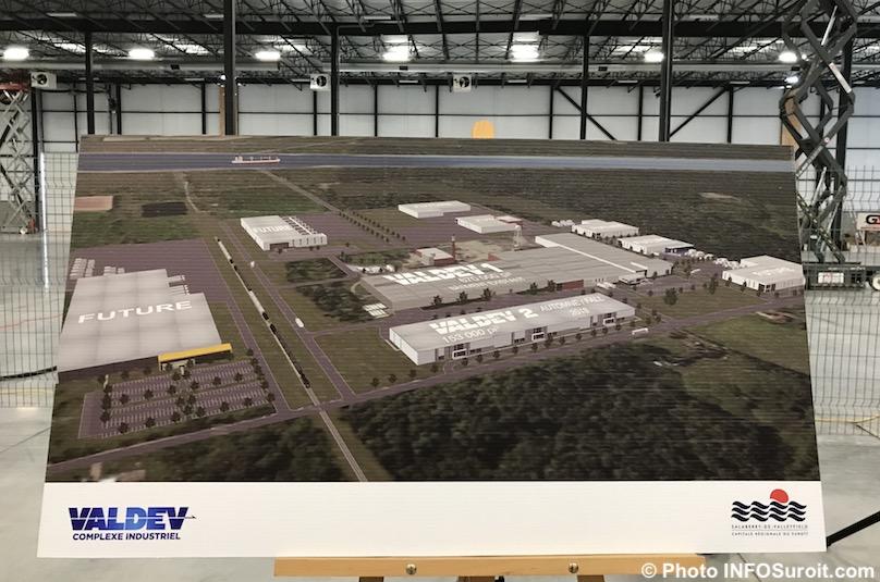 plan du complexe industriel de Valdev 19nov2018 photo INFOSuroit