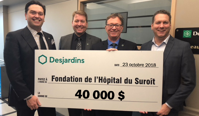 remise oct2018 Desjardins a Fondation Hopital du Suroit photo courtoisie FHS