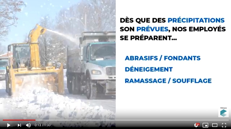 video operations deneigement a Chateauguay via YouTube Ville Chateauguay