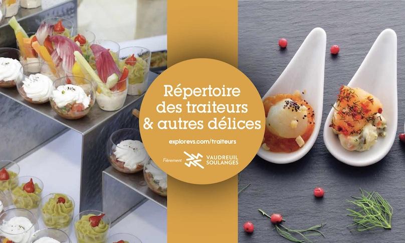 visuel repertoire traiteurs Vaudreuil-Soulanges 2018 via DEV VS