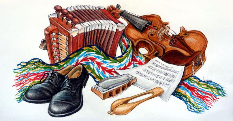 AQLF_Sud-Ouest accordeon violon musique Oeuvre de Goudreau via AQLFSO