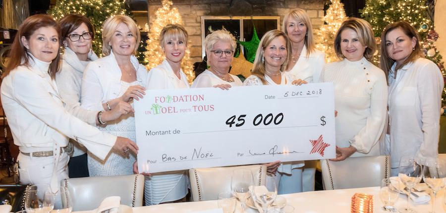 Fondation Un_Noel_pour_tous 2018 montant souper benefice dec2018 photo courtoisie FL