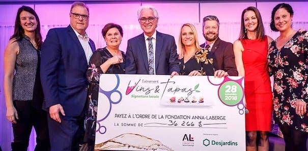 Vins et Tapas 2018 devoilement montant Photo DenisGermain GraviteMedia via Fondation Anna-Laberge