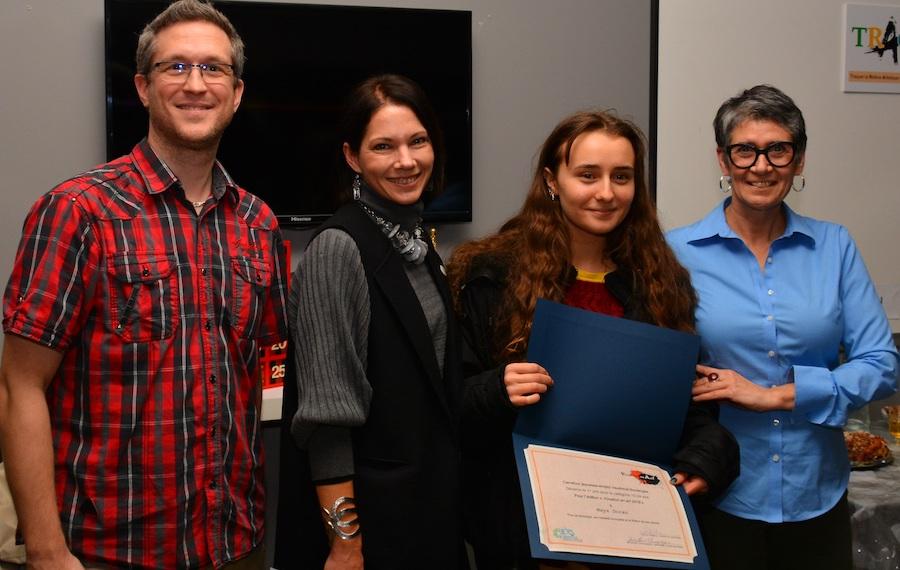 Vocation en art 2018 JChampagne TStruthers laureate Maya_Doran et SHaberstich photo via CJE