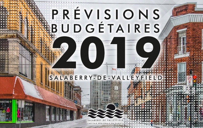 document Previsions budgetaires 2019 Ville de Salaberry-de-Valleyfield couverture