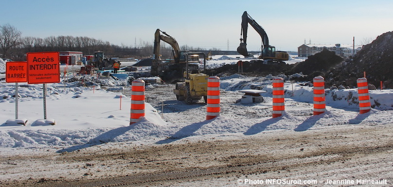 Beauharnois secteur Melocheville travaux infrastructures jan2019 photo JHaineault INFOSuroit