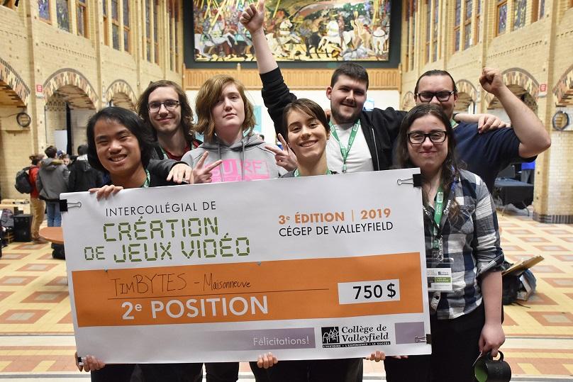 Intercollegial de creation de jeux video 2e position College Maisonneuve Photo via Cegep Valleyfield