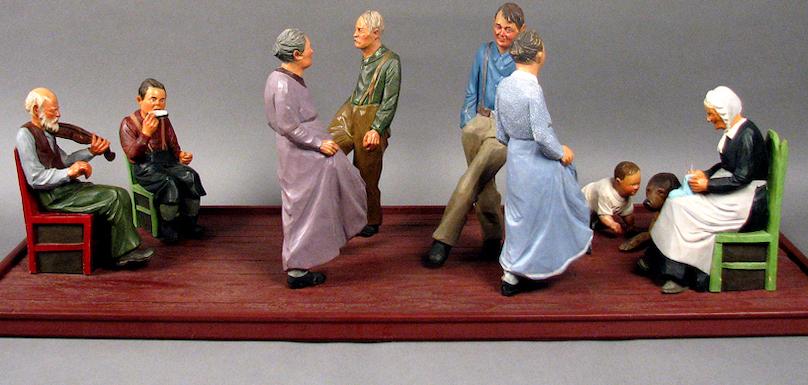 Sculpture Danse_canadienne par Andre_Bourgault 1898-1958 Copyright Collection Musee regional Vaudreuil-Soulanges