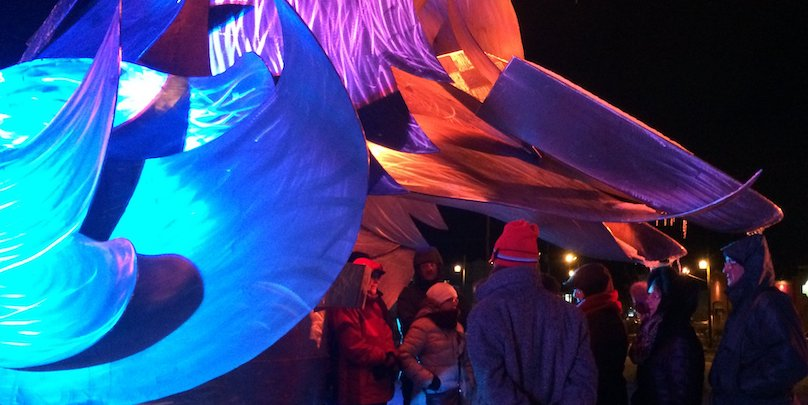 balade nocturne hiver couleurs et douceurs avec guide du MUSO photo courtoisie MUSO