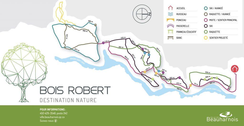 carte sentiers Bois Robert Destination nature jan2019 visuel courtoisie Ville Beauharnois