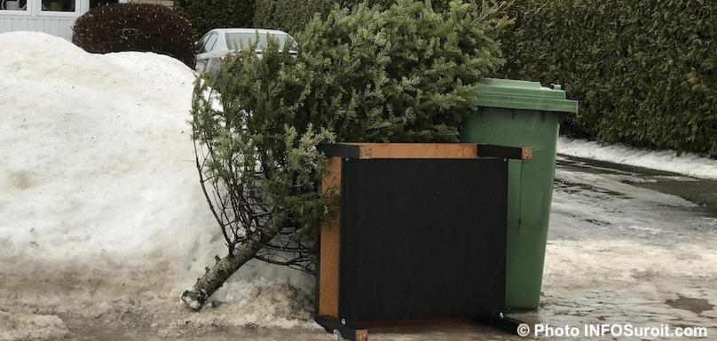 collecte speciale arbre de Noel sapin recuperation hiver photo INFOSuroit
