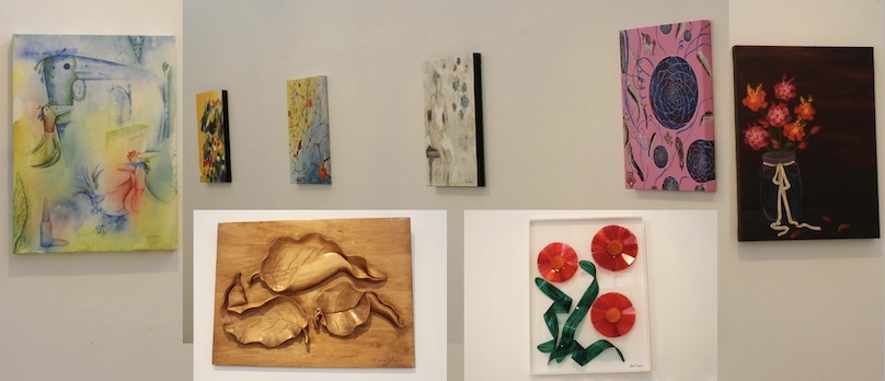des oeuvres exposition Reseau Art Spontane au Cegep Valleyfield jan2019 photo JHaineault INFOSuroit_com