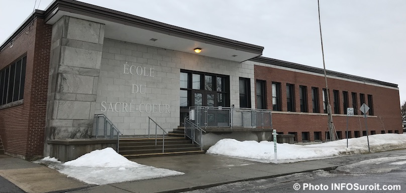 ecole Sacre-Coeur a Valleyfield hiver photo INFOSuroit