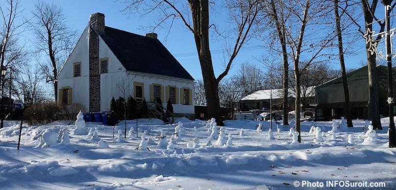 hiver parc Maison-Valois Vaudreuil-Dorion bonhomme de neige photo INFOSuroit