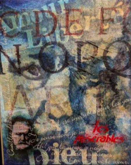 oeuvre de Robert_Gougeon pour Salon Espace Livres 2019 au MUSO a Valleyfield photo via MUSO