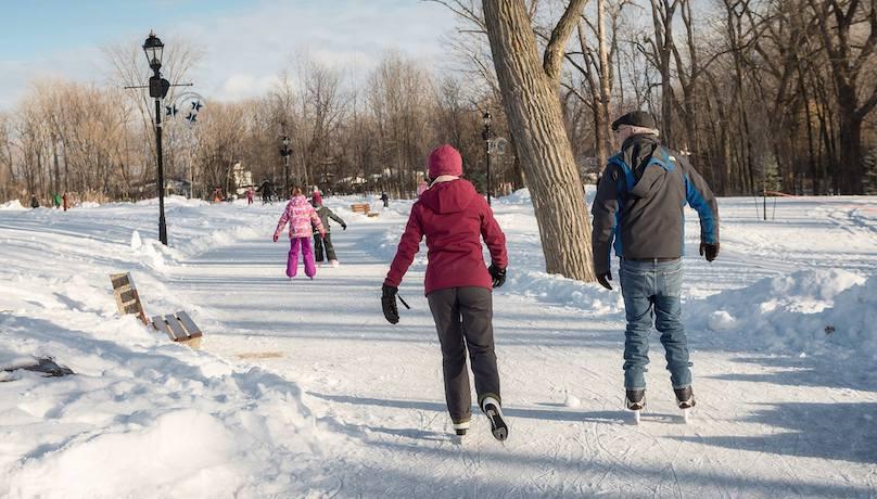 patinage hiver parc de la Maison-Valois Photo Ville Vaudreuil-Dorion