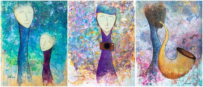 trois oeuvres de Ian_Reid_Langevin exposition galerie art MRC Copyright IRL photo via MRC