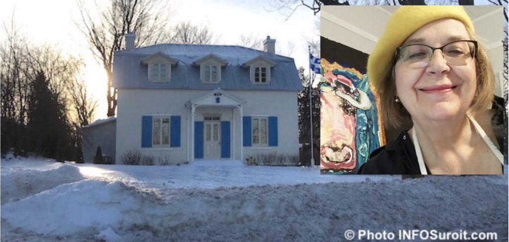 Maison Felix-Leclerc Vaudreuil-Dorion hiver photo INFOSuroit et DianeCollet artiste photo via VD