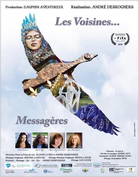 affiche film Les Voisines... Messageres visuel courtoisie cineaste AndreDesrochers