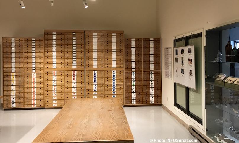 artefacts unites de rangement musee quebecois archeologie Pointe-du-Buisson photo INFOSuroit