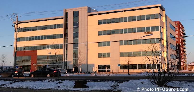 centre ambulatoire et CLSC Vaudreuil-Dorion CISSSMO hiver photo INFOSuroit