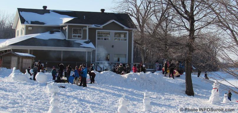 hiver chalet parc regional des iles St-Timothee neige amis du parc photo INFOSuroit